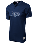 27-27-HUNTFORD Custom Tampa Bay Rays Two-Button Jersey - Tampa Bay Rays-MAI383