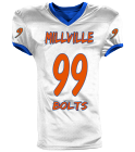 MILLVILLE 99 99 99 ENNIS 99 BOLTS - Custom Heat Pressed Reversible Football Jersey Adult -1357 - 13572048 4f377d79fbb5248201675822817