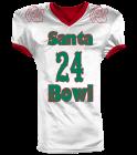 Santa bowl - Custom Heat Pressed Reversible Football Jersey Adult -1357 - 13572045 3b6ee72814112182016161159912