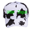 UDDER-DISGUST James Cow Brown Pro Style Pre Printed Otto Cap