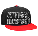 Athens, I Love You - Snapback Flat Bill Hat - 125-978 - 125-9782043 - Custom Embroidered 6c34ebc72a4b271201512473882