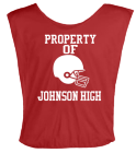 PROPERTY OF JOHNSON HIGH - Custom Heat Pressed Football Scrimmage Vest - Teamwork Athletic - 2331 - 23312023 d3e275e683804fcce9e78