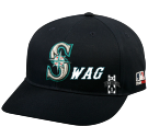 S WAG - Seattle Mariners - Official MLB Hat for Little Kids Softball League - Mariners_Baseball_Hat_2752050 - Custom Heat Pressed 86b984a4d09d25102015173556528