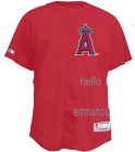 EMRANCU-HELLO WILSON7 Angels Official MLB Full Button Youth Jersey - MAHD684Y
