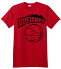 Basketball T-shirt Design Mustangs 09225c2ebf2ea2ff603d8