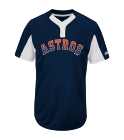 BAT-GIRL-BAT-GIRL Youth Astros Two-Button Jersey - Astros-MAIY83