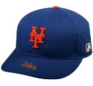 Jake - New York Mets - Official MLB Hat for Little Kids Leagues - Mets_Baseball_Hat_2752025 - Custom Heat Pressed b6c003aba64863201612335705