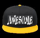 AWESOME - Snap Back Flat Bill Hat - 125-1038 - 125-10382048 - Custom Heat Pressed 1af263e1fc9e231120141917814