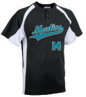 Marlins Teal White - Custom Heat Pressed Youth Line Drive 2-Button Baseball Jersey - 1200P - 1200P2041 272828396867e1cd0cdc27282839686