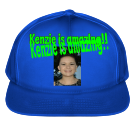 KENZIE IS AMAZING!! KENZIE IS AMAZING!! - Solid Color Cotton Snapback   - 6007 - 60072049 - Custom Heat Pressed 12c25fa9378d2762016224645334