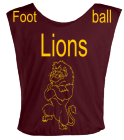 LIONS-FOOT-BALL DISCONTINUED Youth Football Scrimmage Vest - Teamwork Athletic - 2361