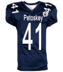 Petoskey Pop Warner - Custom Heat Pressed Reversible Football Jersey Adult -1357 - 13572049 09e7919acb6728520166145904