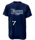 SUMMERS-7-7 Custom Tampa Bay Rays Two-Button Jersey - Tampa Bay Rays-MAI383