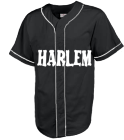 HARLEMBLACK - Custom Heat Pressed Teamwork Athletic Full Button Baseball Jersey - 1757B - 1757B2053 7d317f2655f8281120146656328