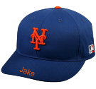 JAKE - New York Mets - Official MLB Hat for Little Kids Leagues - Mets_Baseball_Hat_2752025 - Custom Heat Pressed a1d851e2196a632016114746225