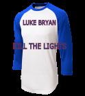 LUKE BRYAN KILL THE LIGHTS WRIGLEY FIELD AUGUST 27, 2016 - Adult Raglan Baseball Shirts - ST205 - ST2052053 - Custom Heat Pressed 76fd4ce823ff298201614285813
