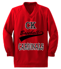 CK-BASEBALL-LUCENTE-27 Youth Solid Color Wind Shirt