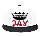 JAY - Snap Back Flat Bill Hat - 125-1038 - 125-10382045 - Custom Heat Pressed 1c5ac78a19df247201401457399
