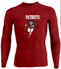 Patriots-PATRIOTS- DISCONTINUED Youth Stretch Tight Long Sleeve Jersey - Teamwork Athletic - 1812