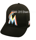 WYAA: 2015 SHAWN & STEVIE - Florida Marlins - Official MLB Hat for Little Kids League - Marlins_Baseball_Hat_2752021 - Custom Heat Pressed 92a1bbe4d7d4152015174618764