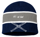 #1 AT BAT  - Striped Beanie - SP06 - SP062024 - Custom Heat Pressed 8a2e9fc0ed7c1820156322360