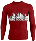 DRAKKAR-FLAG-FOOTBALL DISCONTINUED Youth Stretch Tight Long Sleeve Jersey - Teamwork Athletic - 1812