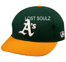 LOST-SOULZ 14 BKB  Oakland A's Official MLB Hat for Little Kids Leagues OCMLB300