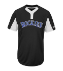 KENDALL-01 Youth Rockies Two-Button Jersey - Rockies-MAIY83