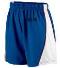 CASSA DISCONTINUED Augusta Ladies Wicking Mesh Basketball Varsity Shorts - 978