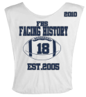 FACING-HISTORY-18-EST2005-FHS-2010-MOE-SOW-18-THEGOLDENBOY DISCONTINUED Youth Football Scrimmage Vest - Teamwork Athletic - 2361