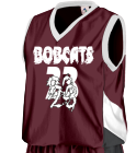 BOBCATS 23 - Custom Heat Pressed Augusta Youth Basketball Tri-Color Dazzle Game Jersey - 769 - 7692038 6079660bf48b121120151041775