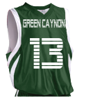 GREEN CAYNON GREEN CAYNON 13 DEAN - Custom Heat Pressed Youth Basketball Jersey - Reversible Downtown - Teamwork Athletic - 1409 - 14092035 1aaec2c220ad7122016174342499
