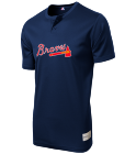 17 - Custom Screen Printed Braves Youth 2-Button MLB Jersey - MLB181 - Braves-1812021 911ed4af05302420151761505