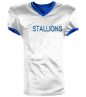 STALLIONS - Custom Embroidered Reversible Football Jersey Adult -1357 - 13572044 3840cf365ed41810201663150795