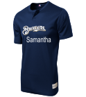 SAMANTHA - Custom Heat Pressed Brewers Youth 2-Button MLB Jersey - MLB181 - Brewers-1812044 9035ad85f66f23720147159410