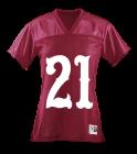 21 21 21 MCCARTHY'S GIRL - Custom Heat Pressed Augusta Ladies Junior Fit Replica Football Tee - 250 - 2502025 44b64bfac381292014163851470