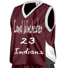 CANAL WINCHESTER INDIANS INDIANS 23 - Custom Screen Printed Augusta Youth Basketball Tri-Color Dazzle Game Jersey - 769 - 7692048 baa716eb4dfa2482016123535332