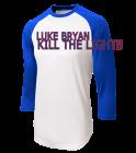 LUKE BRYAN KILL THE LIGHTS WRIGLEY FIELD AUGUST 27, 2016 - Adult Raglan Baseball Shirts - ST205 - ST2052053 - Custom Heat Pressed a06253b7209a2982016143336443