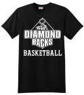 Diamond Backs Basketball T-shirt Design 954e29e706797f92d782a