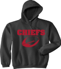 CHIEFS FOOTBALL - Custom Heat Pressed Gildan Pull Over Hoodie - 95002023 a74e0e1171a2635e81ce4