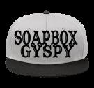 SOAPBOX GYSPY - Snap Back Flat Bill Hat - 125-1038 - 125-10382046 - Custom Heat Pressed f36827f9415b239201491258625