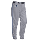 LN-SMITH-14 LN SMITH Open Bottom Baggy Cut Baseball Pants