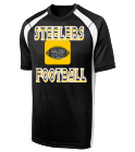 STEELERS FOOTBALL STRAUS 38 - Custom Heat Pressed Adult Colorblock Raglan Shooting T Shirt - T478 - T4782024 a5077f4dafc7182015722157