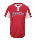 ANGELS - Custom Heat Pressed Youth Angels Two-Button Jersey - Angels-MAIY83 - Angels-MAIY832029 9ba84ceb34761122016111342660