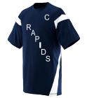 R-A-P-I-D-S-C-48-PETERS DISCONTINUED Adult Two Color Block Crew Neck Jersey  - 1610