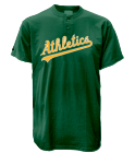 ZACH-10 Athletics MLB 2 Button Jersey  - MA0180