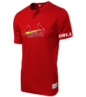 DNLL Youth Cardinals Two-Button Jersey - Cardinals-MAIY83