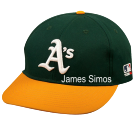JAMES-SIMOS- 14 BKB  Oakland A's Official MLB Hat for Little Kids Leagues OCMLB300