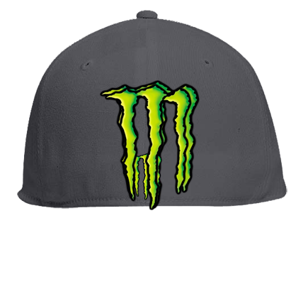 4c5157bec3b monster energy hat - Flat Bill Fitted Hats 123-969 - Custom Embroidered -  123-9692029 - CustomPlanet.com
