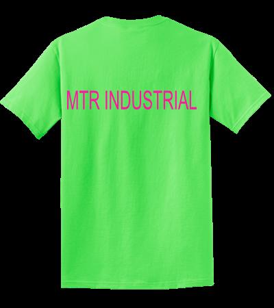 Mtr industrial mtr industrial design custom neon t for Industrial design t shirt